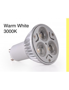 3x3Watt GU10 LED - Warm White