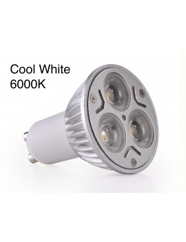 3x3Watt GU10 LED - Cool White