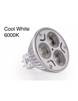 3x3Watt MR16 LED - Cool White
